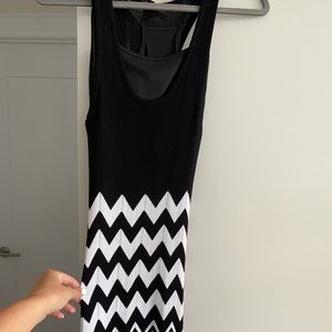 Stunning Knit Chevron Maxi Dress - Size XS/Small